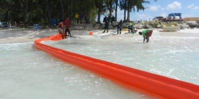 ShoreMax inter-tidal boom in Barbados 2