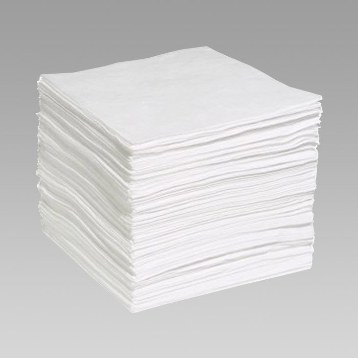 Oil absorbent pads and booms